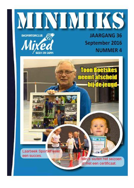 Clubblad september 2016