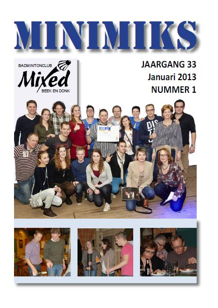 Clubblad januari 2013