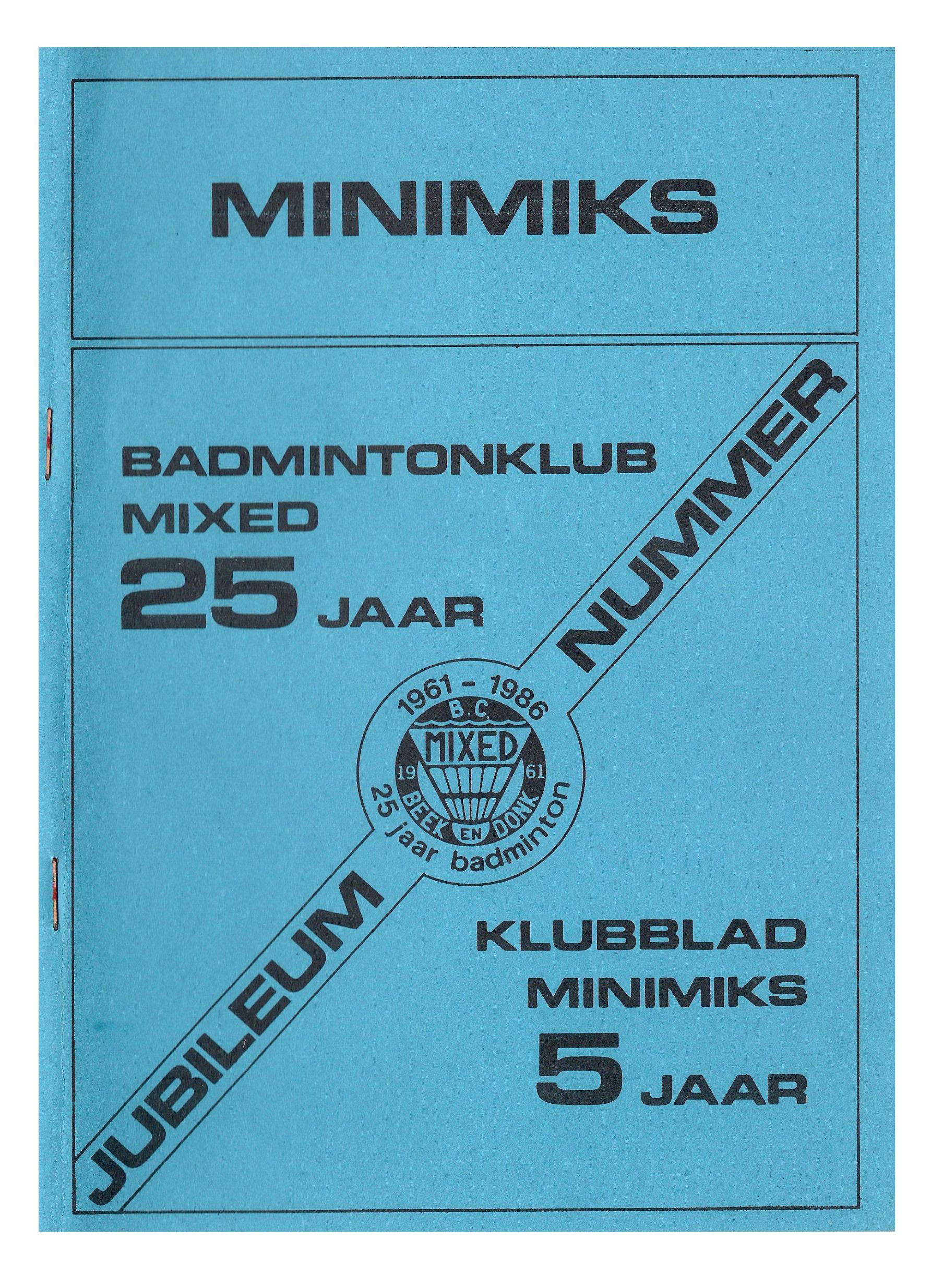 Clubblad januari 1986