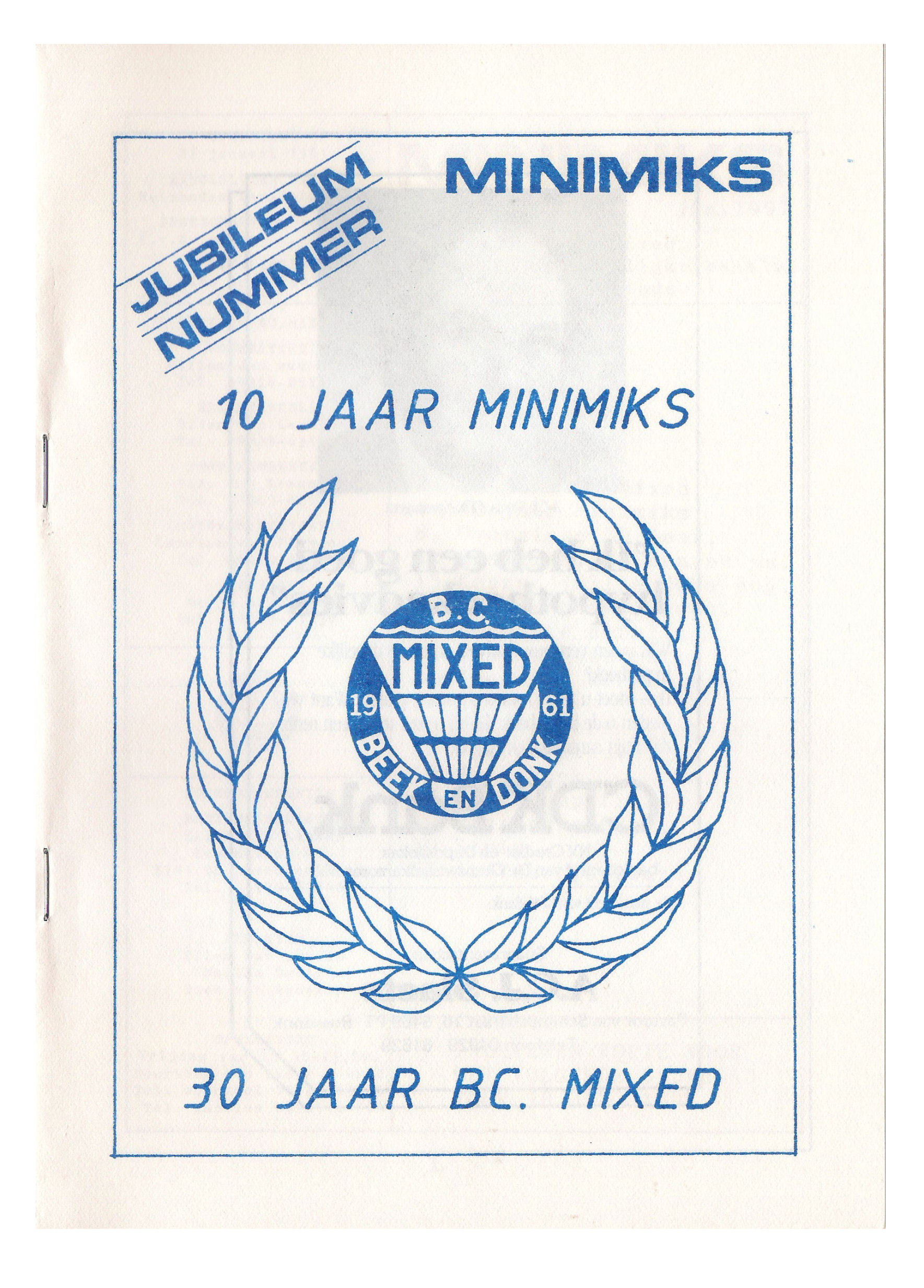 Clubblad januari 1991