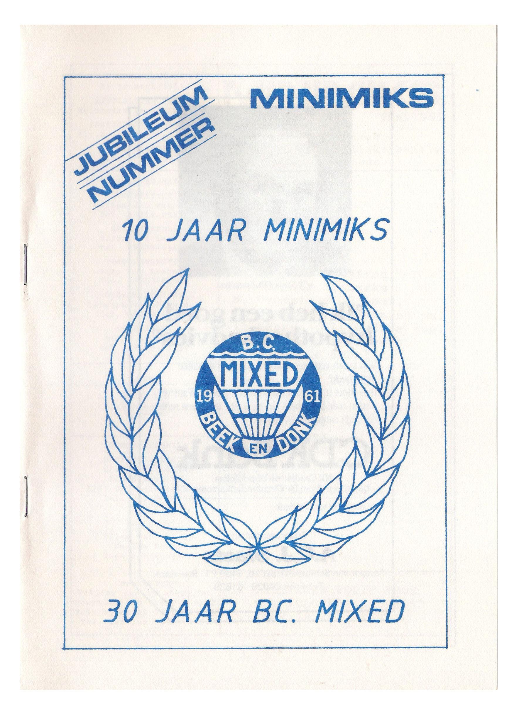 Clubblad januari 1991
