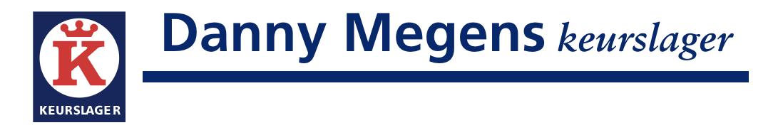 Danny Megens keurslager